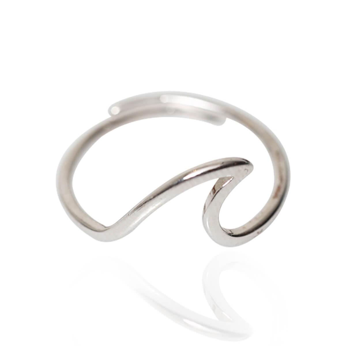 טבעת גל מדהימה לאישה ציפוי כסף