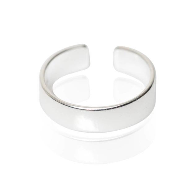 טבעת קלאסית ציפוי כסף